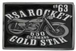 BSA Rocket Gold Star (black) Belt Buckle with display stand (MD2)